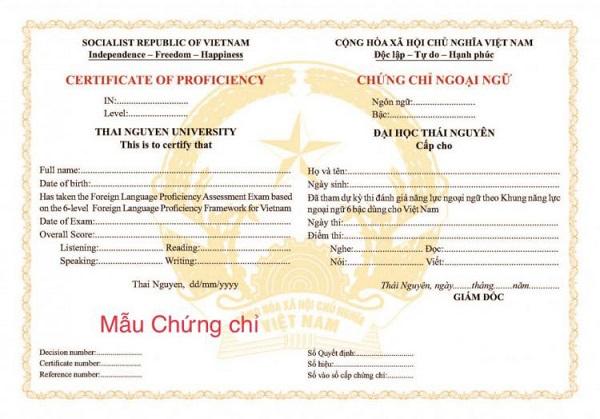 Mẫu A2 đại học Thái Nguyên