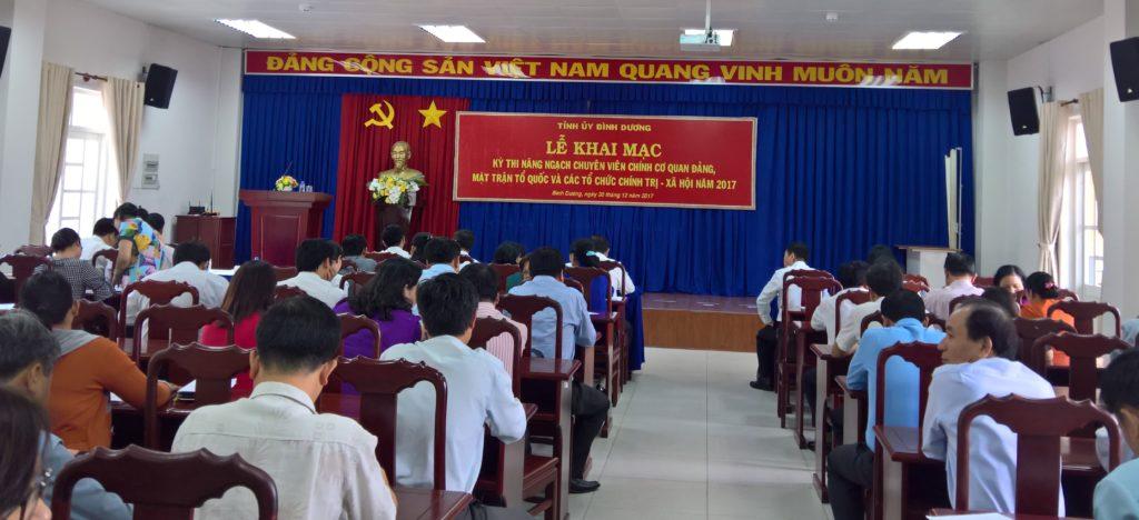 Các thí sinh tham dự kỳ thi phải tuân thủ nghiêm túc các quy định thi chuyên viên chính